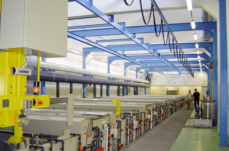 Automated anodising line
