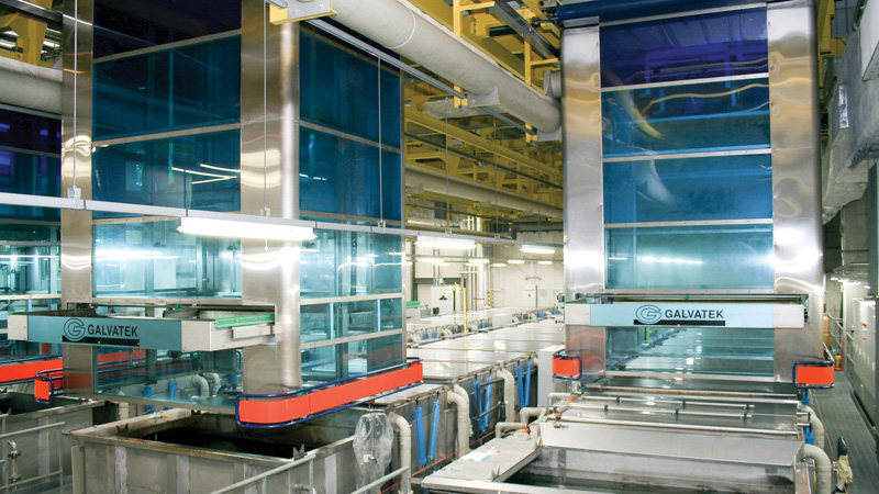 Automated chemical cleaning line