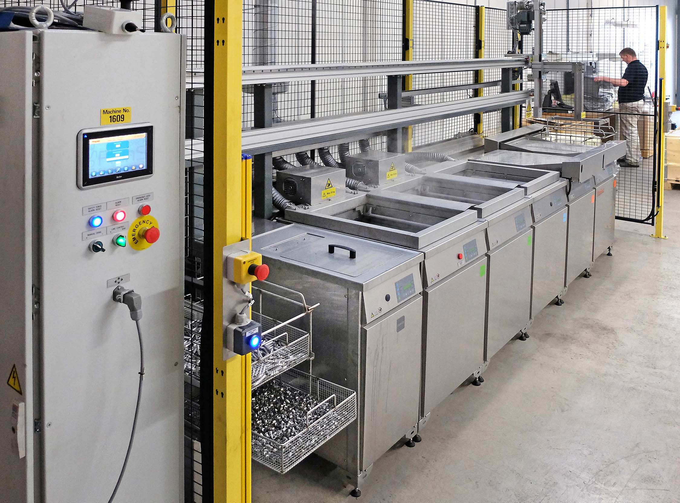 The Turbex automated cleaning line