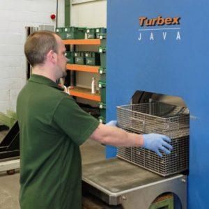 Man using JAVA machine